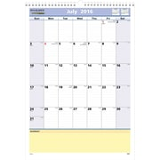 "2016-2017 AT-A-GLANCE® QuickNotes® Academic Monthly Wall Calendar, 12 Months, July Start, 12"" x 17"", White/Blue/Yellow (PM5328)"