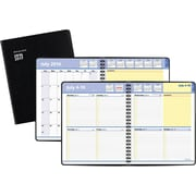 """2016-2017 AT-A-GLANCE® QuickNotes® Academic Weekly/Monthly Planner, 13 Months, July Start, 8"""" x 9 7/8"""", Black (761105)"""
