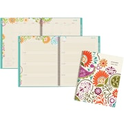 "2016-2017 AT-A-GLANCE® Garden Party Academic Weekly/Monthly Planner, 12 Months, July Start, 8 1/2"" x 11"", Multicolor (150-905A)"