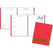 "2016-2017 AT-A-GLANCE® Color Pop Academic Weekly/Monthly Planner, 12 Months, July Start, 8 1/2"" x 11"", Coral (173-905A)"