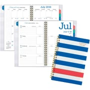 "2016-2017 AT-A-GLANCE® Color Pop Academic Weekly/Monthly Planner, 12 Months, July Start, 4 7/8"" x 8"", Blue Stripe (924837)"