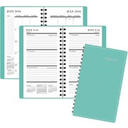 "2016-2017 Staples® Pocket Academic Weekly/Monthly Planner, 14 Months, July Start, 3 1/2"" x 6 3/8"", Mint Green (25504-16-CC)"