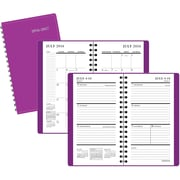 "2016-2017 Staples® Pocket Academic Weekly/Monthly Planner, 14 Months, July Start, 3 1/2"" x 6 3/8"", Purple (25503-16-CC)"