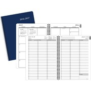"""2016-2017 Staples® Large Academic Weekly/Monthly Appointment Book/Planner, 14 Months, July Start, 8"""" x 11"""", Navy (25500-16-CC)"""