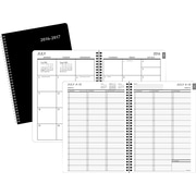 """2016-2017 Staples® Large Academic Weekly/Monthly Appointment Book/Planner, 14 Months, July Start, 8"""" x 11"""", Black (25499-16-CC)"""