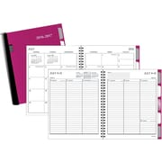 """2016-2017 Staples® Medium Academic Weekly/Monthly Planner with Notes, 14 Months, July Start, 6 7/8"""" x 8 3/4"""", Raspberry"""