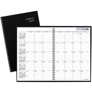 "2016-2017 DayMinder® Academic Monthly Planner, 14 Months, July Start, 7 7/8"" x 11 7/8"", Black (AY200)"