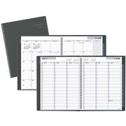 """2016-2017 DayMinder® Academic Weekly/Monthly Appointment Book/Planner, 12 Months, July Start, 8 1/2"""" x 11"""", Gray (AYC52045)"""