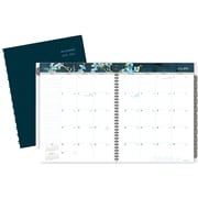 "2016-2017 AT-A-GLANCE® Branches & Blooms Academic Monthly Planner, 12 Months, July Start, 8 1/2"" x 11"", Blue (147-900A)"