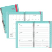 "2016-2017 AT-A-GLANCE® Color Play Academic Weekly/Monthly Planner, 12 Months, July Start, 4 7/8"" x 8"", Teal/Red (895-200A-42)"
