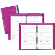 """2016-2017 AT-A-GLANCE® Color Play Academic Weekly/Monthly Planner, 12 Months, July Start, 4 7/8"""" x 8"""", Purple/Teal (895-200A-59)"""