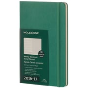 2016-2017 Moleskine Weekly Notebook 18M Large (5 x 8.25) Hard Cover Malachite Green (894226)