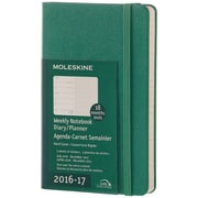 2016-2017 Moleskine Weekly Notebook 18M Pocket (3.5 x 5.5) Hard Cover Malachite Green (894189)