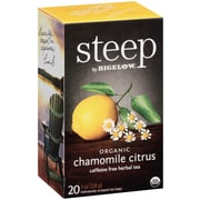 Steep by Bigelow Organic Chamomile Citrus Herbal Tea, 20/Bx