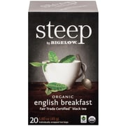 Steep by Bigelow Organic English Breakfast Fair Trade Certified Black Tea, 20/Bx