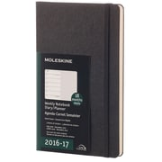 2016-2017 Moleskine Weekly Notebook 18M Large (5 x 8.25) Hard Cover Black (893458)
