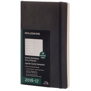 2016-2017 Moleskine Weekly Notebook 18M Large (5 x 8.25) Soft Cover Black (893465)