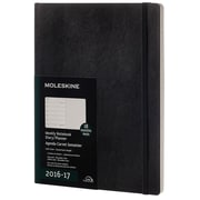 2016-2017 Moleskine Weekly Notebook 18M Extra Large (7.5 x10) Soft Cover Black (893472)