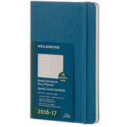 2016-2017 Moleskine Weekly Notebook 18M Large (5 x 8.25) Hard Cover Steel Blue (894196)