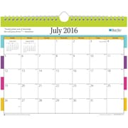2016-2017 Blue Sky Teacher Stripes 11 x 8.75 Monthly Wall Calendar(18329)