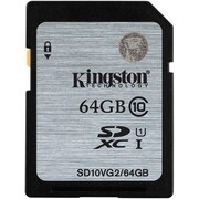 Kingston 64GB SDHC Class10 UHS-I 45MB/s Read Flash Card