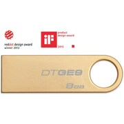 Kingston 8GB USB 2.0 DataTraveler GE9 (Gold Metal casing)