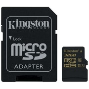 Kingston 32GB microSDHC Class 10 UHS-I 90MB/s read 45MB/s write + SD Adapter