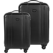 Bugatti 2-Piece Lightweight Hard Case Luggage Set, Black