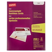 Staples 14633-CC Laser Business Cards, White, 250/Pack