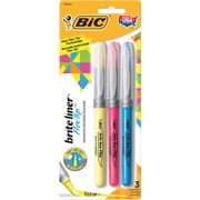BIC® Brite Liner® Flex Tip Highlighters, Assorted, 3/Pk