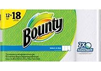 Bounty® Select-A-Size™ Paper Towels, 12 Giant Rolls = 18 Regular Rolls (88212/81440)