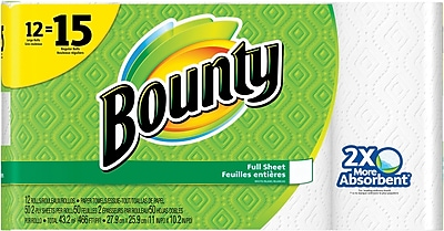 Bounty 2 Ply Paper Towels 50 Sheets Roll 12 Roll Pack 95032 99197