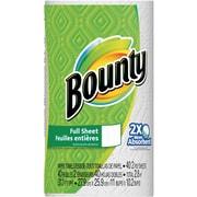 Bounty® Paper Towels, White, 30 Regular Rolls (PGC 88275/81539)