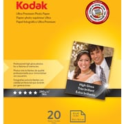 "Kodak Ultra Premium Photo Paper High Gloss 4""x6"" , 20 sheets per pack"