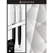 Sheaffer 100 Chrome/Black Lacquer Ballpoint Pen and .7mm Pencil Set
