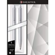 Sheaffer Sentinel Brushed Chrome Ballpoint Pen & .7mm Pencil Set