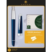 Cross Aventura Blue Fountain Pen Gift Set with Ink Cartridges