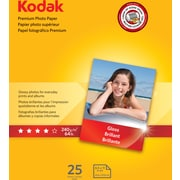 "Kodak Premium Photo Paper Gloss 8 1/2"" x 11"", 25 sheets per pack"
