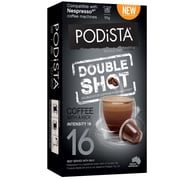 Podista Double Shot 16/10, 10 Nespresso compatible pods per pack