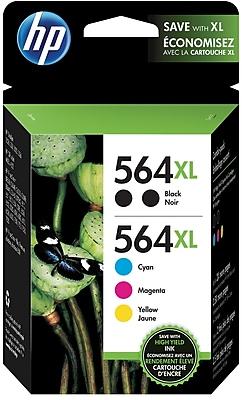 HP 564XL High Yield Black and C M Y Color Ink Cartridges N9H68FN 140 5 Pack