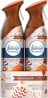 Febreze Air Effects Air Freshener Spray Pumpkin Bliss 9.7 oz. 2 Pack