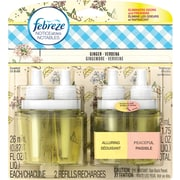 Febreze Noticeables Dual Scented Oil Air Freshener Refills, Ginger Verbena, 2/Pack