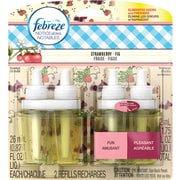 Febreze Noticeables Dual Scented Oil Air Freshener Refills, Strawberry Fig, 2/Pack