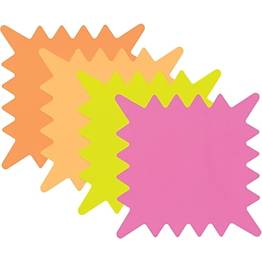 Cosco® Write-On Flourescent Paper Signs, 5-1/4