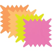 "Cosco® Write-On Flourescent Paper Signs, 5-1/4"" x 5-1/4"""