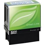 2000PLUS Green Line Self inking Stamp, Copy, Blue Ink by