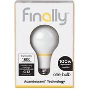 Finally 100W Equiv. Acandescent A19 Lightbulb, Soft White