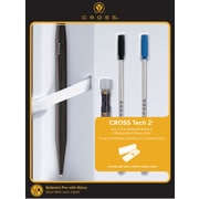 Cross Tech2 Matte Black Stylus Ballpoint Pen Gift Set with Refills and Replacement Stylus