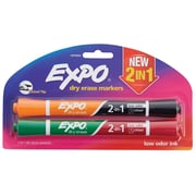 Expo® Dry Erase 2-in-1 Markers, Chisel Tip, Assorted, 2/pk (1944654)