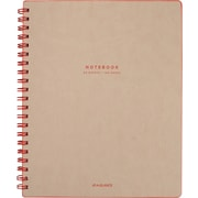 "AT-A-GLANCE® Collection Twinwire Notebook Ruled 80 Sheets 11"" x 8-3/4"" Tan/Red (YP141-07)"